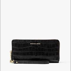 Travel Crocodile-Embossed-Leather Continental